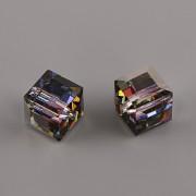 Korálky Swarovski Elements – kostička 5601 – Crystal Meridian Blue - 8mm