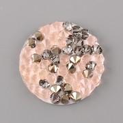 Crystal Rocks Swarovski Elements - Peach Gold na průhledném podkladu - 15 mm