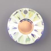 Sluníčkový MATOVANÝ přívěsek Swarovski Elements 6724 - Crystal AB 12mm