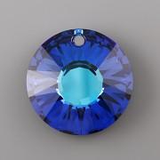 Sluníčkový přívěsek Swarovski Elements 6724 - Bermuda Blue P - 12mm