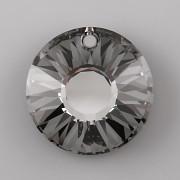 Sluníčkový přívěsek Swarovski Elements 6724 - Silver Night - 12mm