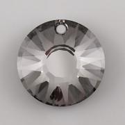 Sluníčkový MATOVANÝ přívěsek Swarovski Elements 6724 - Silver Night - 19mm