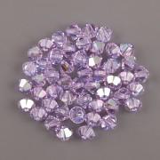 Swarovski Elements korálky XILION 5328 – Sluníčka – Violet AB2x – 6mm