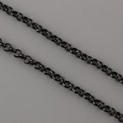 Řetízek ROLO 3mm - METRÁŽ - černý