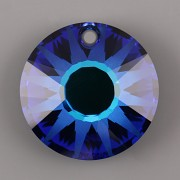 Sluníčkový přívěsek MATOVANÝ Swarovski Elements 6724 - Bermuda Blue P - 12mm