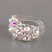 Prsten BUBBLE s kamínky Swarovski Elements - Crystal AB - 53