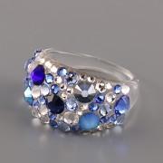 Prsten BUBBLE s kamínky Swarovski Elements - Sapphire 57