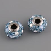 BeCharmed MEDLEY korálky Swarovski Elements 181504 – modrý kulatý mix