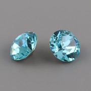 Swarovski Elements XIRIUS Chaton 1088 – Light Turquoise Foiled - 8mm