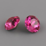 Swarovski Elements XILION Chaton 1088 – Fuchsia Foiled – 8mm