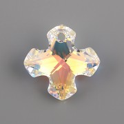 Swarovski Elements přívěsky 6867 - Řecký kříž - Crystal AB - 18mm