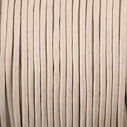 Kožená šňůrka kulatá - bílá 1,5mm - metr