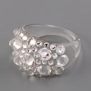 Prsten BUBBLE s kamínky Swarovski Elements - Crystal 59