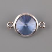 OKATÁ Rivoli Swarovski Elements - Sapphire - 2 očka rovně - 8mm