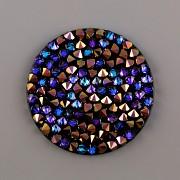 Crystal Rocks Swarovski samolepící - Heliotrope na černém podkladu - 15mm