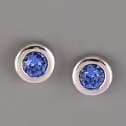 Puzety LILI se šatony Swarovski Elements - Sapphire