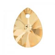 Swarovski Elements přívěsky 6128 – Mini Pear – Metallic Sunshine - 10mm
