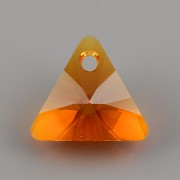 Swarovski Elements přívěsky 6628 - XILION Triangle - Tangerine - 12mm