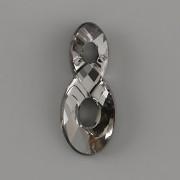 Swarovski Elements přívěsky 6792 NEKONEČNO - Silver Night - 18mm