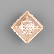 VISION Square Swarovski Elements 4481 – Light Peach Foiled - 12mm