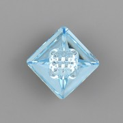 VISION Square Swarovski Elements 4481 – Aquamarine Foiled - 12mm
