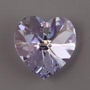 Swarovski Elements přívěsky 6228 – Srdce – Violet AB – 14mm