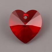 Swarovski Elements přívěsky 6228 – Srdce – Light Siam – 14mm