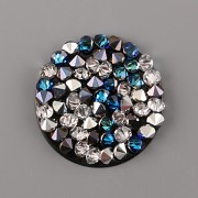 Crystal Rocks Swarovski Elements - Bermuda Blue + CAL - 25mm