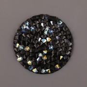 Crystal Rocks Swarovski Elements - Crystal AB na černém podkladu - 25mm