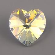 Swarovski Elements přívěsky 6228 – Srdce – Crystal AB – 14mm