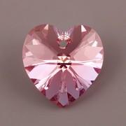 Swarovski Elements přívěsky 6228 – Srdce – Light Rose AB – 14mm