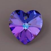 Swarovski Elements přívěsky 6228 – Srdce – Heliotrope – 14mm