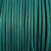 Kožená šňůrka kulatá - zelenomodrá 1,5mm