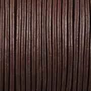 Kožená šňůrka kulatá - hnědá 2mm - metr