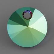 Swarovski Elements přívěsky 6428 – Rivoli – Scarabaeus Green – 8mm