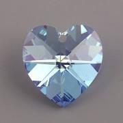 Swarovski Elements přívěsky 6228 – Srdce – Light Sapphire AB – 28mm