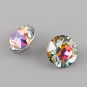 Swarovski Elements XILION Chaton 1088 – Volcano Foiled – 8mm