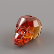 Korálek LEBKA Swarovski Elements 5750 - Red Magma - 13mm