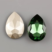 Slza Swarovski Elements 4327 - Dark Moss Green Foiled - 30mm