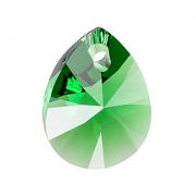 Swarovski Elements přívěsky 6128 – Mini Pear – Dark Moss Green – 12mm