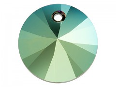 Swarovski Elements přívěsky 6428 – Rivoli – Iridescent Green – 8mm