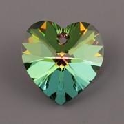 Swarovski Elements přívěsky 6228 – Srdce – Vitrail Medium – 14 mm