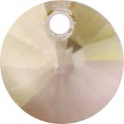 Swarovski Elements přívěsky 6428 – Rivoli – Luminous Green – 8mm
