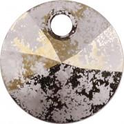 Swarovski Elements přívěsky 6428 – Rivoli – Gold Patina – 8mm