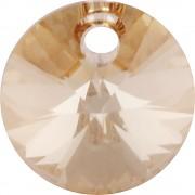 Swarovski Elements přívěsky 6428 – Rivoli – Golden Sahdow – 8mm