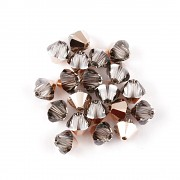 Swarovski Elements korálky XILION 5328 – Sluníčka – Rose Gold – 6mm