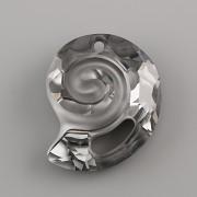 Swarovski Elements přívěsky 6731 – Mořský hlemýžď – Silver Night - 28mm