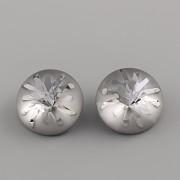 Swarovski Elements Mořský ježek 1695 – Silver Night F – 10mm