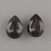 Slzička Swarovski Elements 4320 - Graphite - 18mm