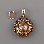 Šlupna špičatá - střední - Ag925 růžové zlato